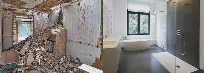 badkamerrenovatie voor en na