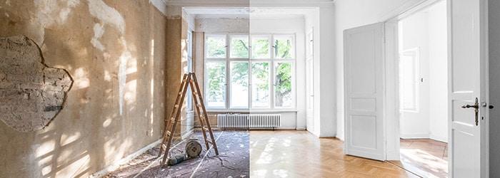 renovatiewerken woonkamer